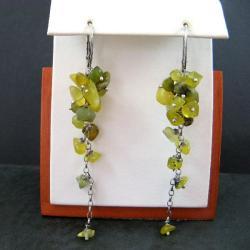długie,oliwkowe - Kolczyki - Biżuteria