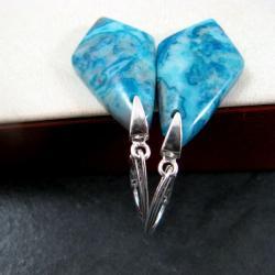 błękitne,okazałe - Kolczyki - Biżuteria