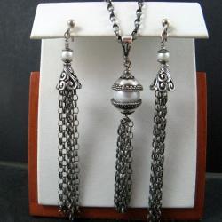 efektowny,perłowy - Komplety - Biżuteria