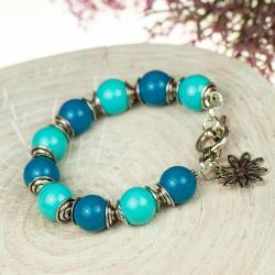 niebieska bransoletka,boho,letnia,wakacyjna - Bransoletki - Biżuteria