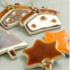 Ceramika i szkło zawieszki,dekoracje choinkowe,rustic