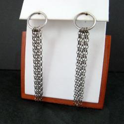 srebrne,długie - Kolczyki - Biżuteria