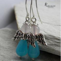 kolczyki,aniołki,wiszące - Kolczyki - Biżuteria
