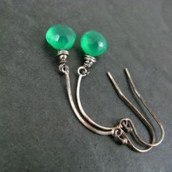 lśniące,długie,zielone - Kolczyki - Biżuteria
