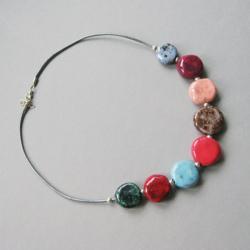 naszyjnik,kobiecy,kolorowy,prezent,handmade - Naszyjniki - Biżuteria
