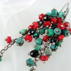 Barwne,długie,grona - Kolczyki - Biżuteria