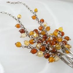 długie,złote,grona - Kolczyki - Biżuteria