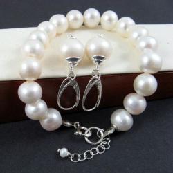 perłowy,klasyczny - Komplety - Biżuteria