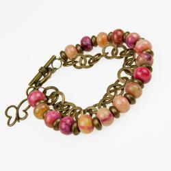 bransoletka modowa,do biura,z jaspisami - Bransoletki - Biżuteria