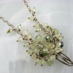 grona,frenit,długie - Kolczyki - Biżuteria