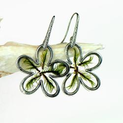 kolczyki,z mchem,żywica, - Kolczyki - Biżuteria