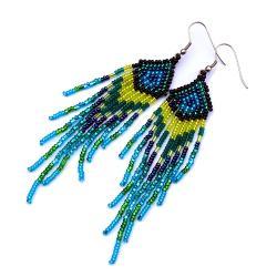 indiańskie kolczyki,długie kolczyki - Kolczyki - Biżuteria