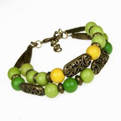 bransoletka,kolroowa,letnia,greenary - Bransoletki - Biżuteria